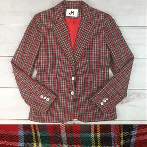 Vintage USA Plaid Bespoke Blazer Jacket